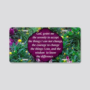 SERENITY PRAYER Aluminum License Plate